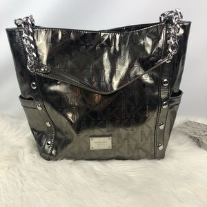 Michael Kors Silver Logo Handbag